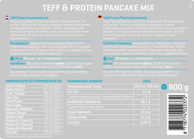 Teff & Protein Pfannkuchenmischung Nutritional Information 1