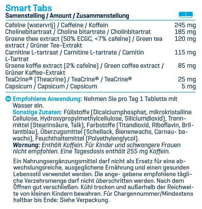Smart Tabs Nutritional Information 1