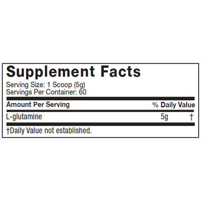 Platinum Glutamine Nutritional Information 1