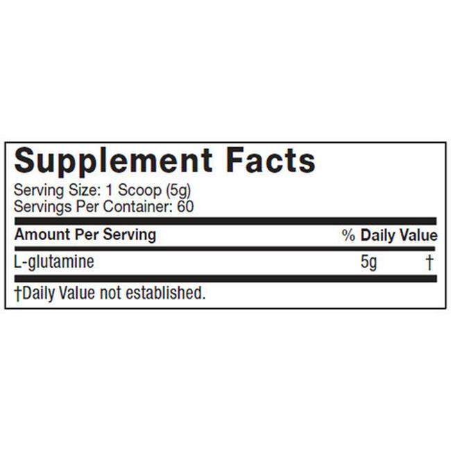 Platinum Glutamine Nutritional Information 1