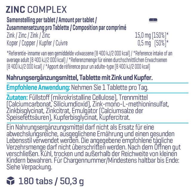 Zink-Komplex Nutritional Information 1