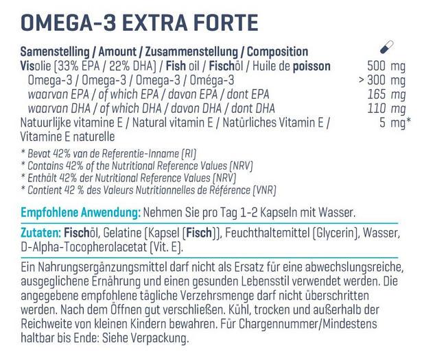 Omega 3 Extra Forte Nutritional Information 2