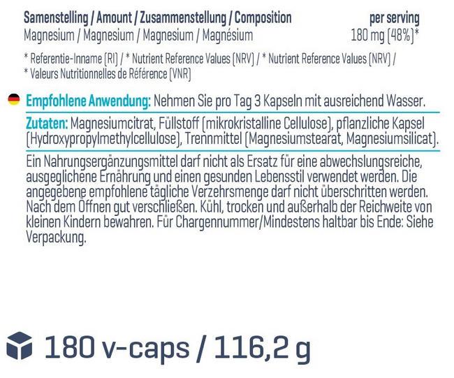 Magnesiumcitrat-Kapseln Nutritional Information 1