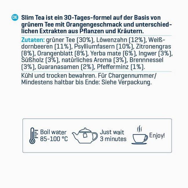 Slim Tea Nutritional Information 1