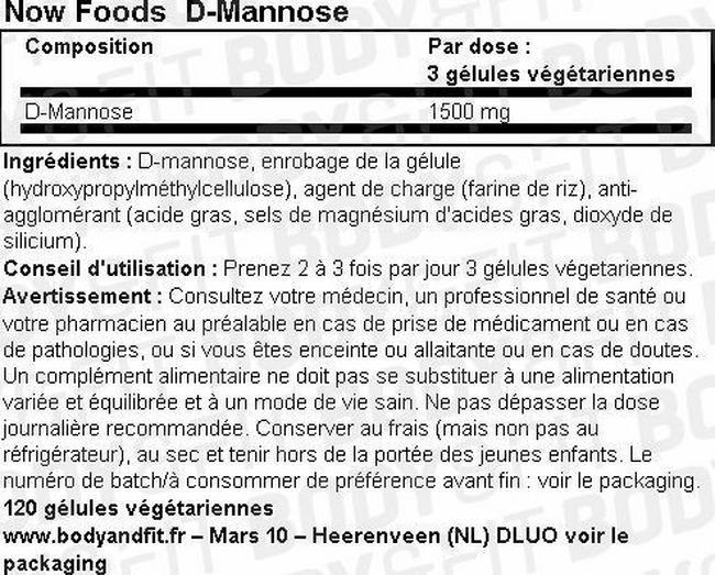 D-Mannose Nutritional Information 2
