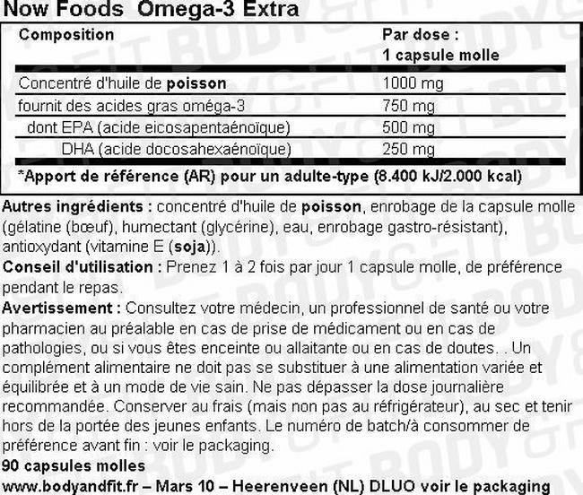 Omega-3 Extra Nutritional Information 2