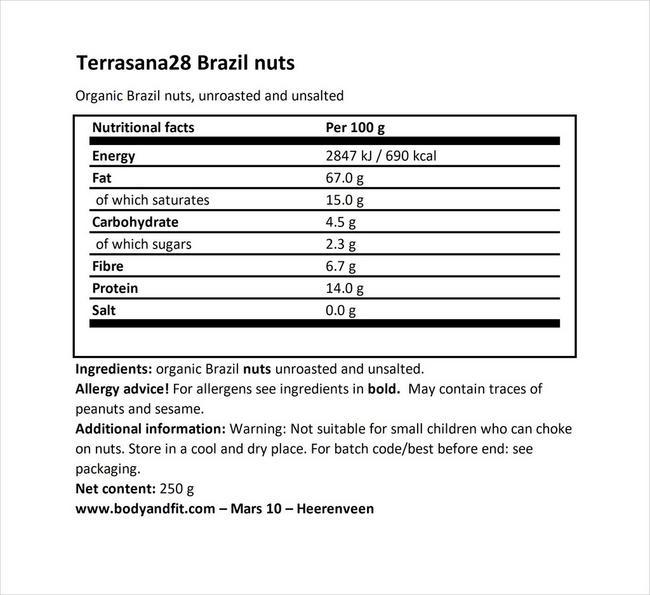 Brazil nuts Nutritional Information 1