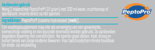PeptoPro Nutritional Information 2