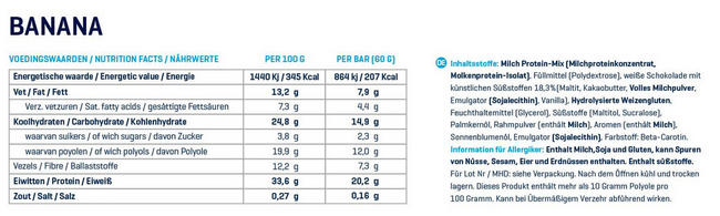 Perfection Bar Nutritional Information 2