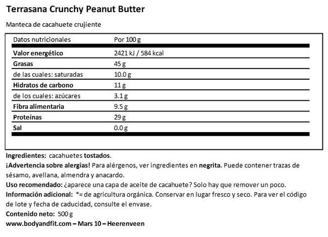 Crunchy Peanutbutter Nutritional Information 1