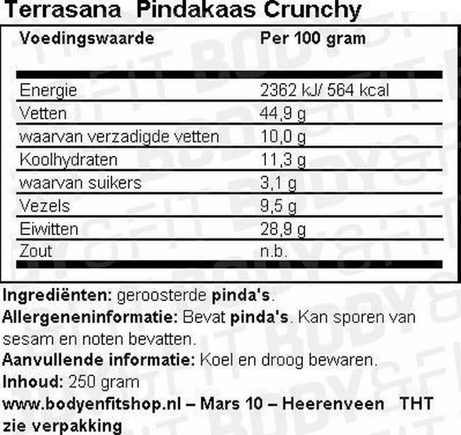 Pindakaas Crunchy Nutritional Information 1