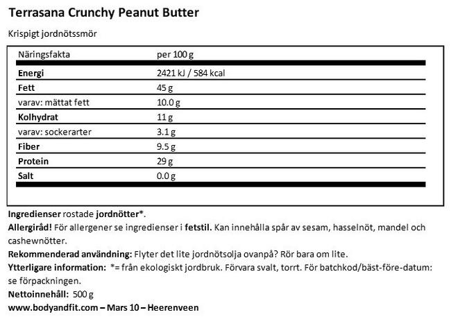 Crunchy Peanutbutter Nutritional Information 1