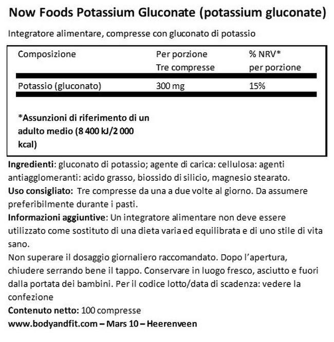Potassio 99 mg Nutritional Information 1