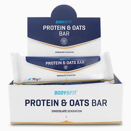 Barra de proteínas e aveia