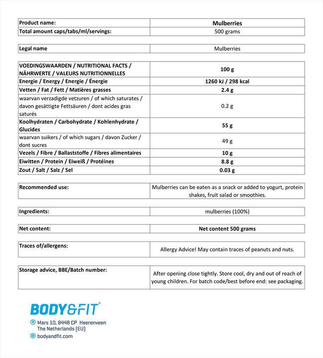 퓨어 오디 Nutritional Information 1