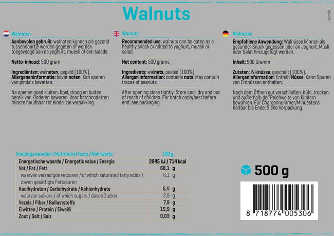 Pure Walnüsse Nutritional Information 1