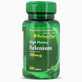 Puritan's Pride Selenium 200mcg - 100 tabs