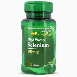 Selénio Puritan's Pride 200mcg - 100 comprimidos