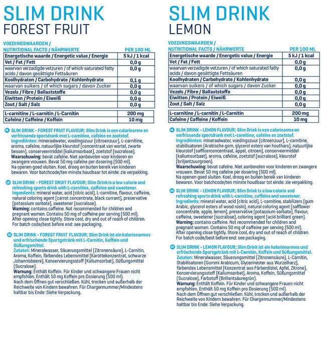 Slim Drink Nutritional Information 1