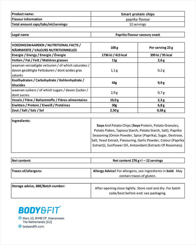 Smart Protein Chips Nutritional Information 4