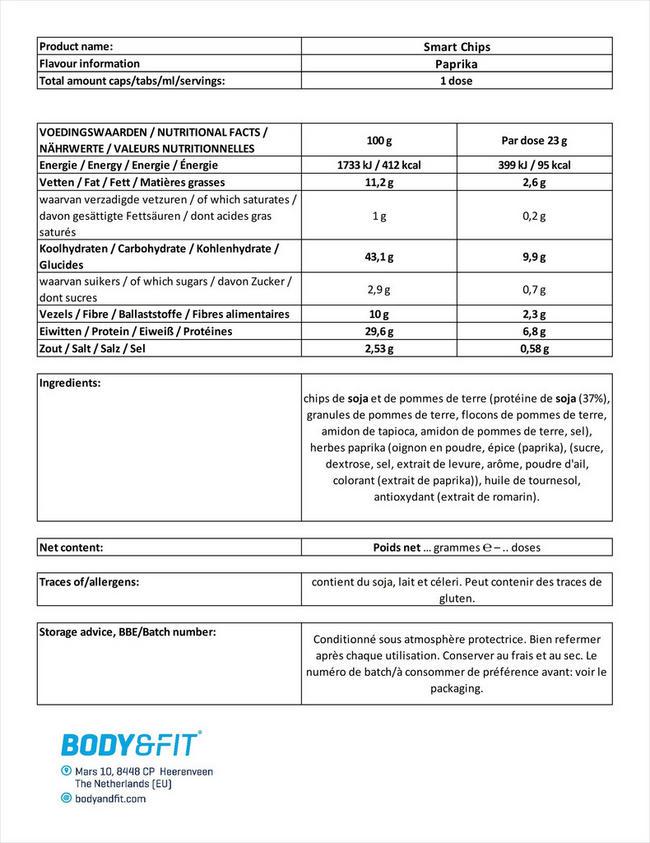 Smart Chips Nutritional Information 5