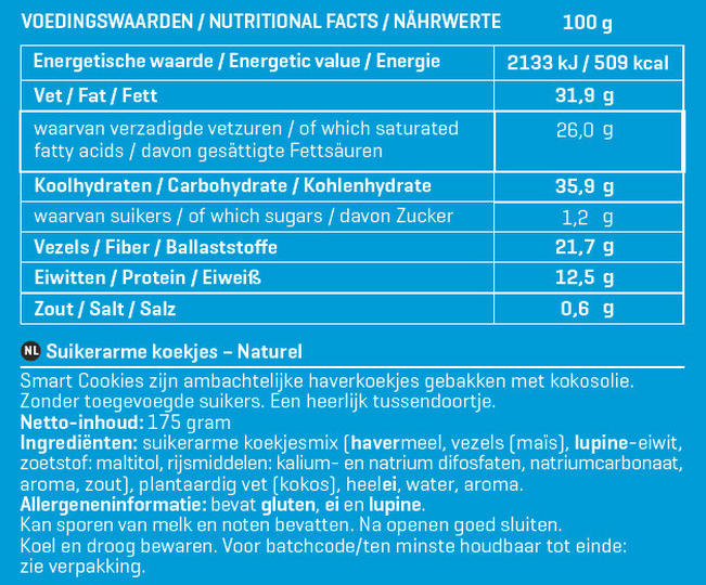 Smart Cookies Nutritional Information 1