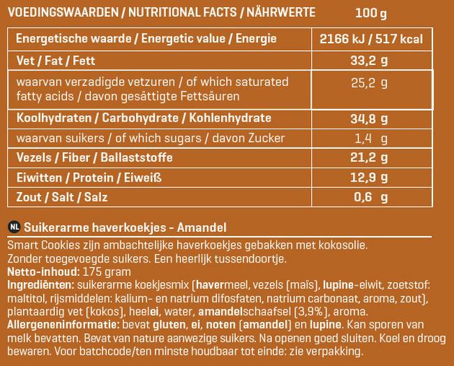 Smart Cookies Nutritional Information 3