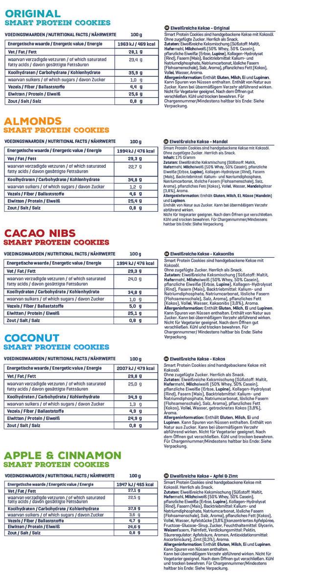 Smart Protein Cookies Nutritional Information 2