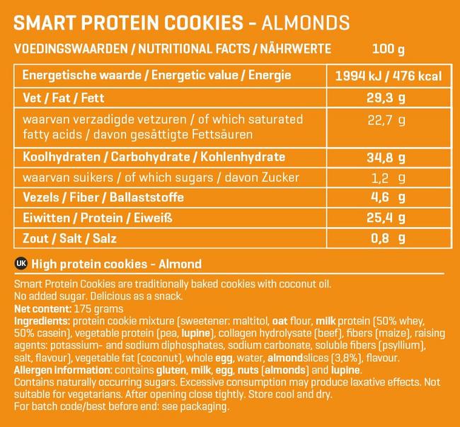 Smart Protein Cookies Nutritional Information 5