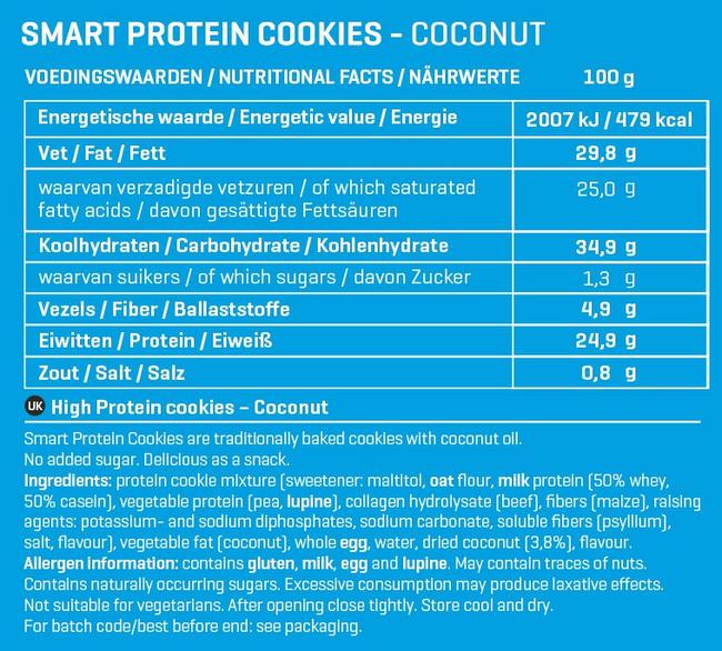 Smart Protein Cookies Nutritional Information 7