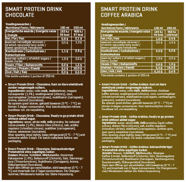 Smart Protein Drinks Nutritional Information 2