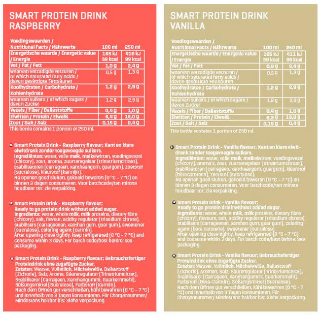 Smart Protein Drinks Nutritional Information 3