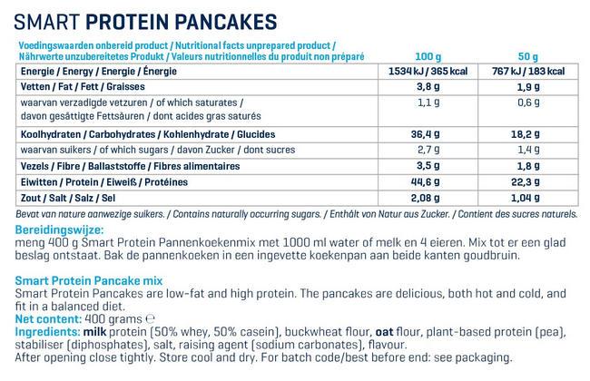 Smart Protein Préparation pour crêpes Nutritional Information 3