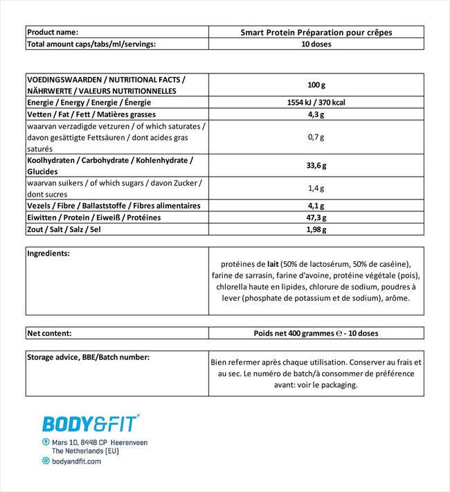 Smart Protein Préparation pour crêpes Nutritional Information 5