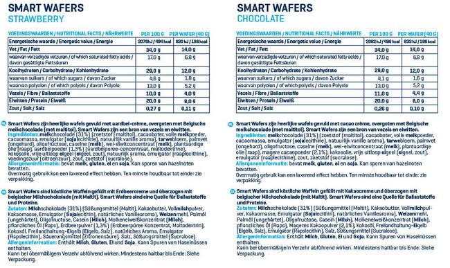 Smart Crunchy Waffeln - Box (12X40g) Nutritional Information 1