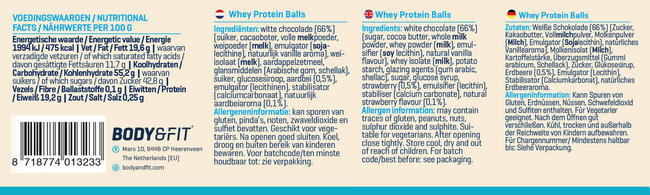 Whey Protein Balls Nutritional Information 3