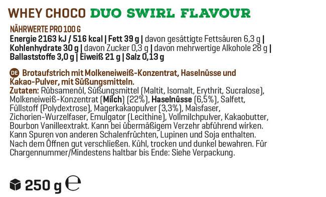 WheyChoco Nutritional Information 1
